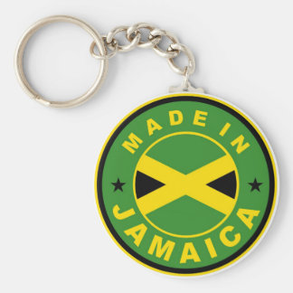 made in jamaica country flag product label round basic round button keychain