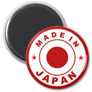 made in japan country flag label round stamp magnet