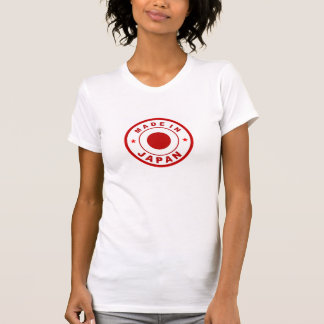 made in japan country flag label round stamp tshirt