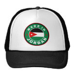 made in jordan country flag label round stamp trucker hats