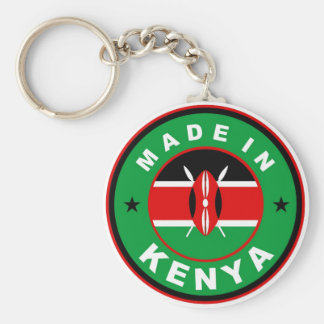 made in kenya country flag product label round basic round button keychain
