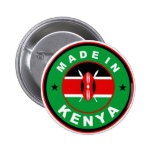 made in kenya country flag product label round buttons
