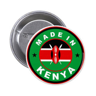 made in kenya country flag product label round button