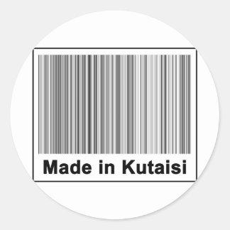Made In Kutaisi Classic Round Sticker