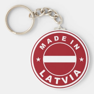 made in latvia country flag product label round basic round button keychain