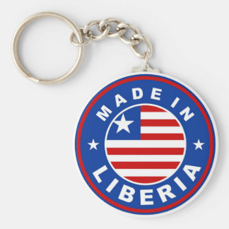 made in liberia country flag product label round basic round button keychain