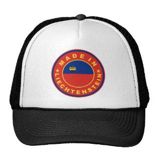 made in liechtenstein country flag product label trucker hats