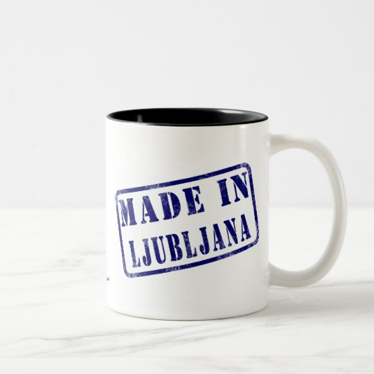 Made in Ljubljana Two-Tone Coffee Mug