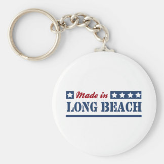Made in Long Beach NY Basic Round Button Keychain