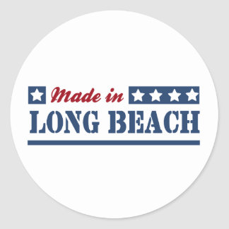 Made in Long Beach NY Round Stickers