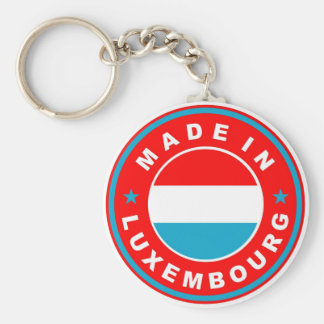 made in luxembourg country flag product label keychain