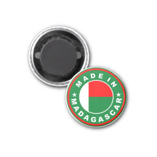 made in madagascar country flag product label 1 inch round magnet