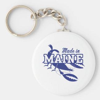 Made In Maine Basic Round Button Keychain