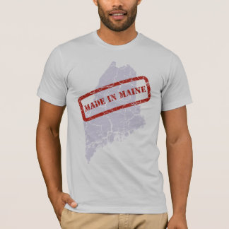 Made in Maine Grunge Grey T-shirt