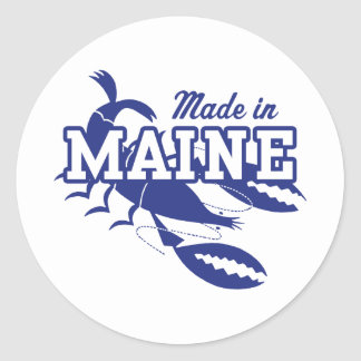 Made In Maine Round Stickers