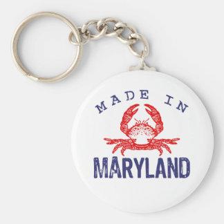Made In Maryland Basic Round Button Keychain