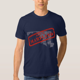 Made in Maryland Grunge Map Mens Navy T-shirt