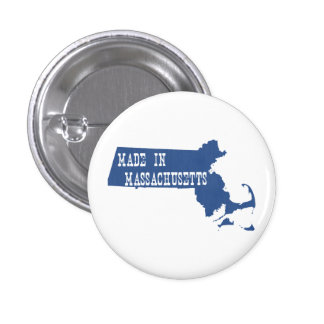 Made In Massachusetts 1 Inch Round Button