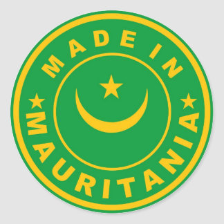 made in mauritania country flag product label