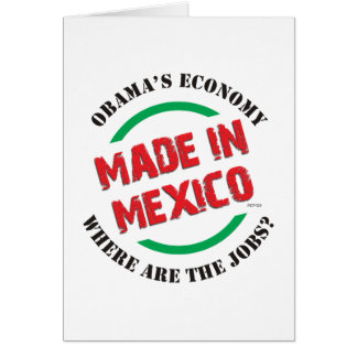 Made In Mexico Greeting Card