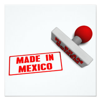 Made in Mexico Stamp or Chop on Paper Concept Card
