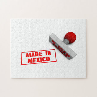 Made in Mexico Stamp or Chop on Paper Concept Puzzle