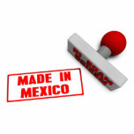"""Made in Mexico Stamp or Chop on Paper Concept Statuette<br><div class=""""desc"""">Made in Mexico Stamp or Chop on Paper Concept in 3d in Red and White</div>"""