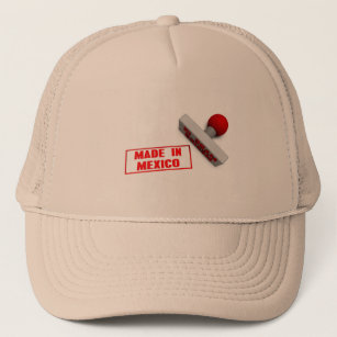 Made in Mexico Stamp or Chop on Paper Concept Trucker Hat 4ba9f4e663e