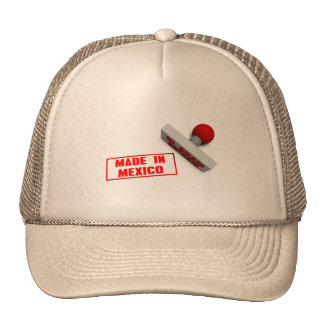 Made in Mexico Stamp or Chop on Paper Concept Trucker Hat