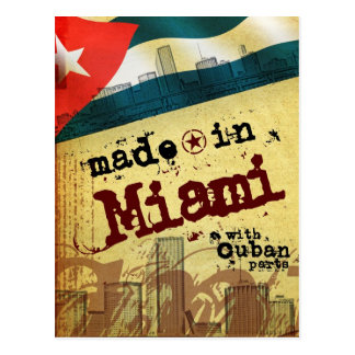 Made in Miami with Cuban Parts Post Cards