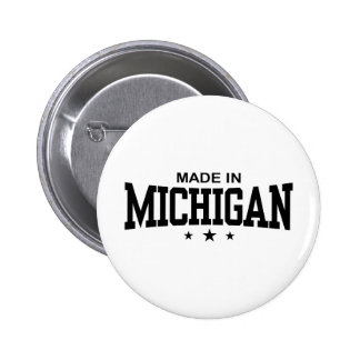 Made In Michigan Pinback Button