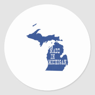 Made In Michigan Classic Round Sticker