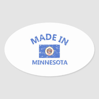 Made in MINNESOTA Oval Sticker