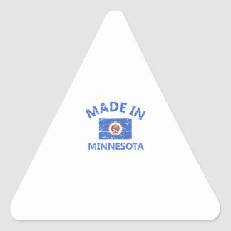 Made in MINNESOTA Triangle Sticker