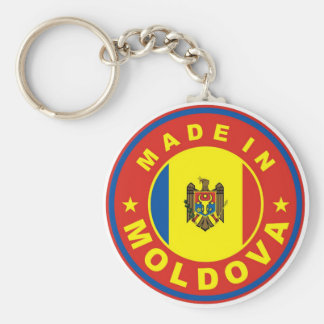 made in moldova country flag product label round basic round button keychain