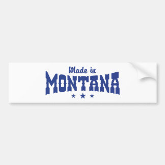 Made In Montana Bumper Stickers
