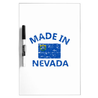 Made in NEVADA United States Flag designs Dry Erase Whiteboards