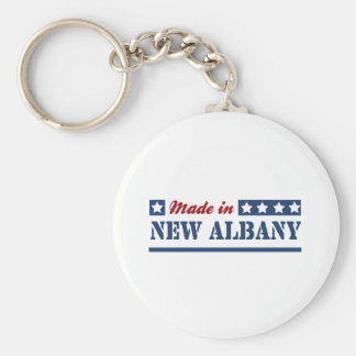 Made in New Albany Basic Round Button Keychain