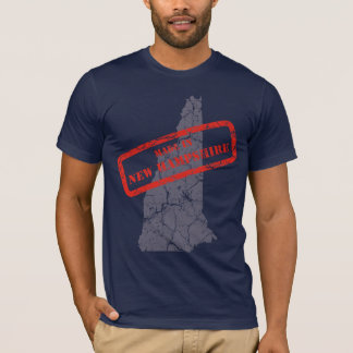 Made in New Hampshire Grunge Navy Blue T-shirt