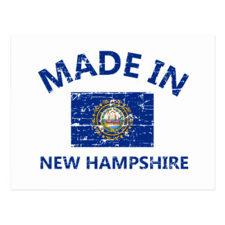 Made in NEW HAMPSHIRE United States Flag designs Postcard