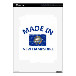 Made in NEW HAMPSHIRE United States Flag designs iPad 2 Decal