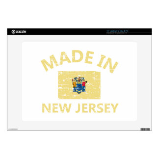 """Made in NEW JERSEY United States Flag designs 15"""" Laptop Decal"""