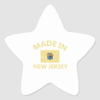 Made in NEW JERSEY United States Flag designs Star Sticker