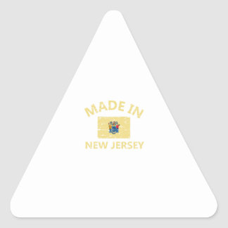 Made in NEW JERSEY United States Flag designs Triangle Sticker