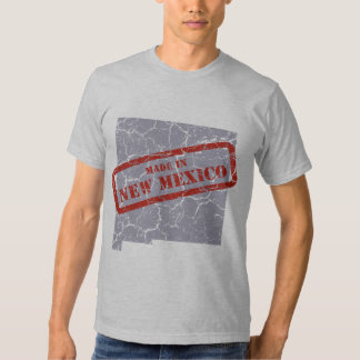 Made in New Mexico Grunge Map Mens Grey T-shirt