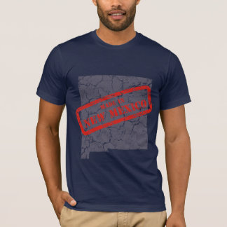 Made in New Mexico Grunge Mens Navy Blue T-shirt