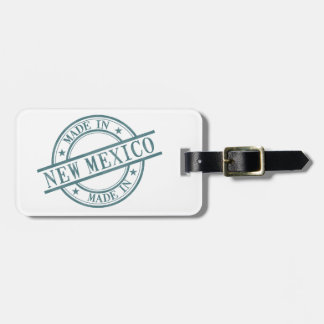 Made In New Mexico Stamp Style Logo Symbol Green Luggage Tag