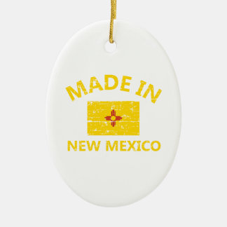 Made in NEW MEXICO United States Flag designs Ceramic Ornament