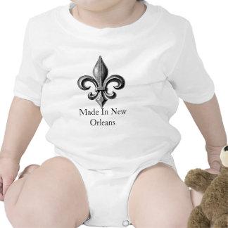 """Made In New Orleans"" baby Fleur-de-lis T-shirt"