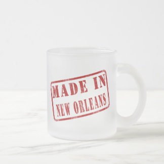 Made in New Orleans Frosted Glass Coffee Mug